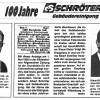 Albert Schröter Gebäudeservice GmbH – 100 Jahre Schröter